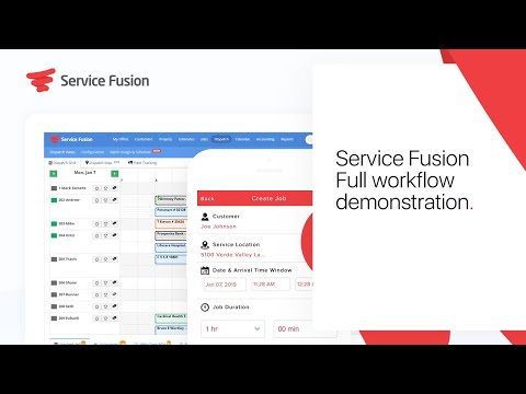 Service Fusion: Full workflow demonstration