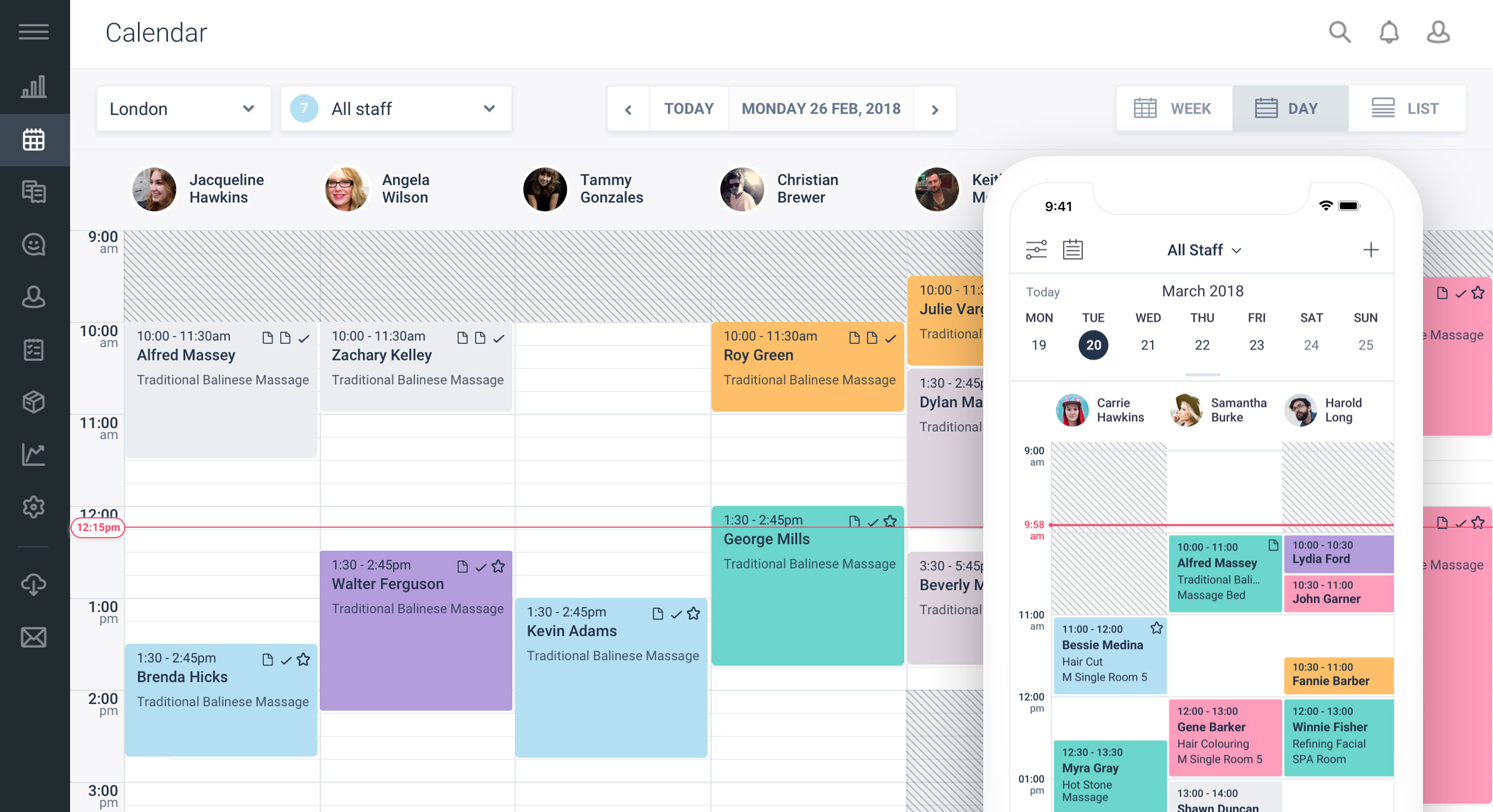 salon software dashboard by Schedul