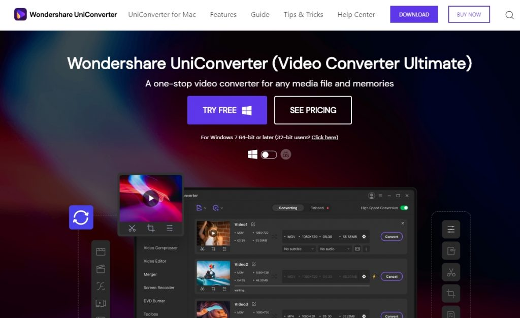 Wondershare Tools- Filmora9, UniConverter, Recoverit, PDFelement 5